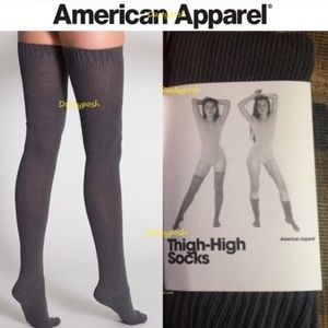 4cc5734d6 American Apparel. American Apparel Thigh High Socks Over ...